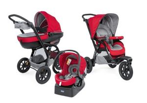 Chicco kinderwagen 3-in-1 Activ3 Top Polyester rot/grau