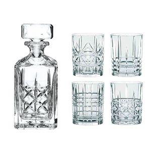 Nachtmann 0098196-0 Whisky-Set 'Highland', Karaffe mit 4 Gläsern, Kristallglas, klar, 5-teilig (1 Set)