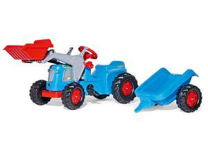rolly toys Kiddy Classic blau Trettraktor +  Kid Trailer + Kid Lader, Maße: 162x47x53,5 cm; 63 004 2