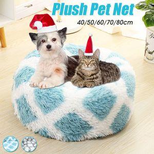 Hundebett, Katzenbett, Kissen Flauschig, Weich u Waschbar für Katzen Hunde Dia. 50cm