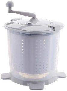 2in1 Mini Waschmaschine Tragbarer Manueller Waschmaschine Camping Waschautomat Reisewaschmaschine Wäscheschleuder (Grau)