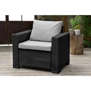 Allibert California Chair, Graphitgrau, 2 Stühle