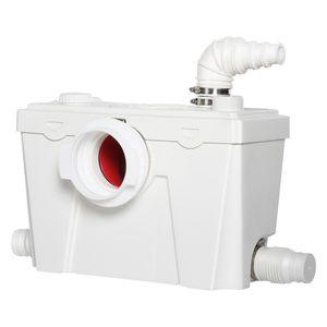 HOMCOM Hebeanlage Abwasserpumpe Fäkalienpumpe Haushaltspumpe für WC Dusche, 500W, 40 x 29 x28 cm