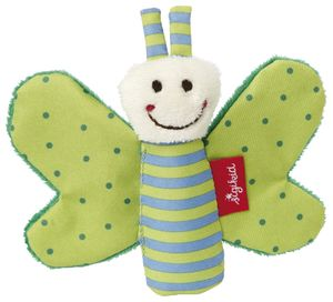 sigikid Knister-Schmetterling, grün, Maße: 9x12x2 cm; 41179