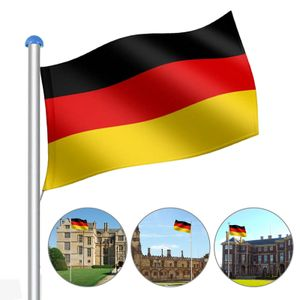 Wolketon Fahnenmast Aluminium Fahnenmast 6,5m Flaggenmast Deutschland Fahne Flagge Alu