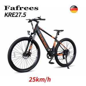 2021 Dohiker Fahrrad 27.5 Zoll Reifen Moped Smart Elektrische Fahrrad 250W Motor e-bike 10.4Ah Batterie Max 25 km/h , Max ca.65 KM,Belastung 120kg,Puffer Elektrische Fahrrad