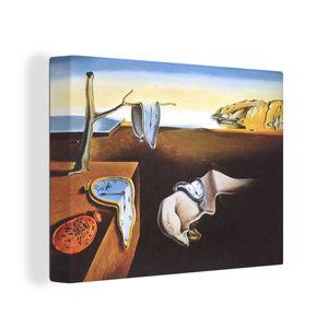 OneMillionCanvasses - Leinwand Bilder - 80x60 cm - Die Beharrlichkeit der Erinnerungen - Gemälde von Salvador Dalí - Wand bilder - Wandbilder Wohnzimmer - Wandbilder Schlafzimmer - Kunstdruck -