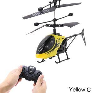 Gelb $ 2-Wege-Fernbedienung Flugzeug Fernhubschraubersteuerung mit Licht und splitterfrei Spielzeug Modell Kindern
