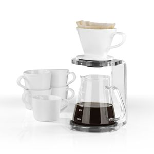 BEEM POUR OVER Kaffeebereiter Set 5 Tassen  manuelle Kaffeezubereitung 3-teilig
