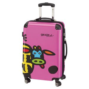 CHECK IN KUH FAMILY Trolley 4w M 67cm Pink