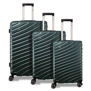Valis® 3-teiliges Reisekoffer-Set mit Zahlenschloss, dunkelgrün