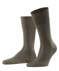 FALKE Herren Socken - Tiago, Strümpfe, Unifarben, Baumwollmischung, 41-48 Grün (Military) 47-48