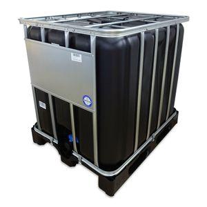 1000 L 1000 Liter IBC Container Regenwassertank Tank schwarz Kunststoffpalette