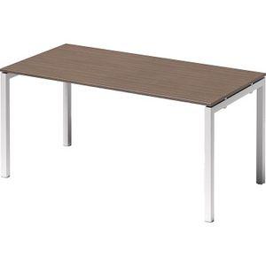 Bisley Schreibtisch CITO U 1600x740x800mm weiss/nußbaum