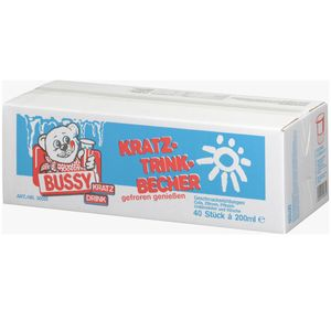 Bussy Kratzbecher 5 Geschmacksrichtungen erfrischend süß 40 x 200ml