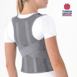Geradehalter LUX zur Haltungskorrektur, Rückenbandage für perfekte Haltung, Grau M