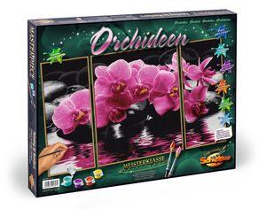 Noris Spiele Malen nach Zahlen - Orchideen (Triptychon); 609260603