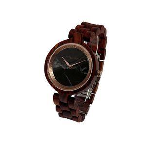 Holzkern Schwarze Rose Rosenholz/marmor Uhr Damenuhr Holz Braun