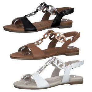 Tamaris 1-28163-24 Damen Sandalen T-Steg Leder Sandaletten, Größe:40 EU, Farbe:Weiß