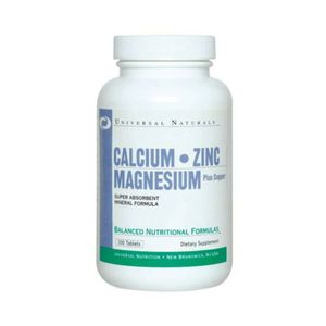 Universal Nutrition Calcium Zink Magnesium 100 Tabletten ZMA (0,10 € pro 1 Tabletten)