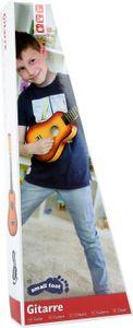 Small Foot 7160 Kinder-Gitarre aus Echtholz, mit Stahlsaiten, mehrfarbig (1 Stück)