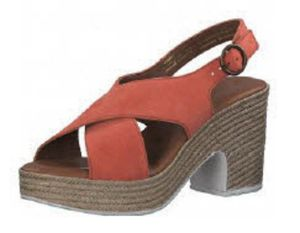 Tamaris Damen Sandalette in Rot, Größe 41