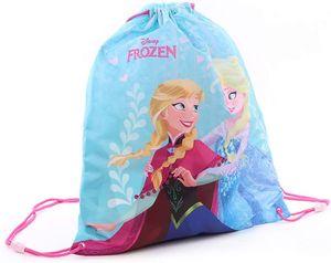 Disney 'Frozen - Sparkling Snow' Kinder Turnbeutel mit Anna & Elsa, 44x37cm, blau