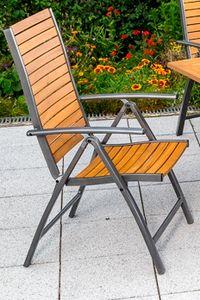 Merxx Santorin Klappsessel - Farbe: grau / braun -  Maße: 59 x 54 x 110 cm; 22020-209