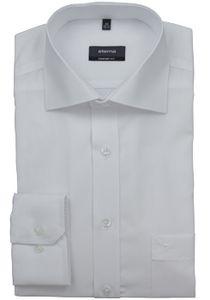 Eterna Comfort Fit Hemd Langarm Uni Popeline Weiß 1100/00/E187, Größe: 43