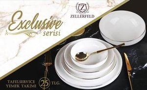 50-Teilig Elegant Tafelservice ESS Service Porzellan Set Kombiservice Rund mit Gold Rand 12 Person Weiß (D003)