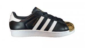 adidas Originals Superstar Metal Toe W Damen Sneaker Schwarz BB5115, Größenauswahl:38