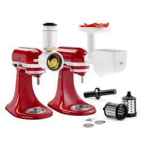 KitchenAid 5KSM2FPPC Zubehör Set Bundle für Küchenmaschinen, Fleischwolf, Pürieraufsatz, Gemüseschneider (5KSMFVSFGA + 5KSMVSA)