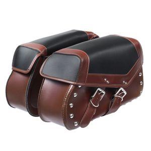 2x Motorrad Satteltaschen Gepäcktasche Seitentaschen Werkzeugtasche Kunstleder