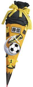 ROTH Schultüte-Bastelset Soccer gelb 68 cm, 6-eckig