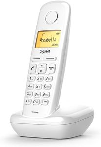 Gigaset A170 Analog/DECT Phone White Caller Identification