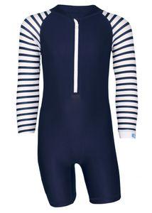 JUJA - UV-Schwimmanzug für Babys - Langärmlig - Stripes - Dunkelblau, 86/92