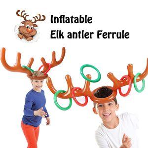 Aufblasbare Elchgeweih Ferrule Rentiergeweih Ringwurf Spiel fuer Weihnachtsfeier liefert Xmas Target Game Toy
