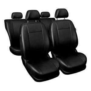 Comfort Universal Autositzbezüge - Kunsleder Komplettset Schwarz