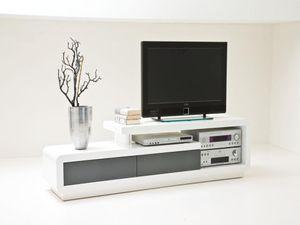 TV-Lowboard Celia Hochglanz Weiß lackiert 2 TV-Schrank kaufen
