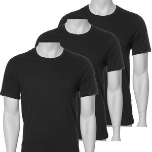 Hugo Boss Rundhals Shirts 3er Pack       Größe L       3 Schwarz