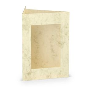 Rössler Papier - - Paperado-Karte Ft.B6 PP-eckig, Chamois Marmora - Liefermenge: 25 Stück