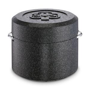 SCHULTE-UFER Thermotopf Romana i schwarz/silber Edelstahl/Kunststoff Romana backofenfest/spülmaschinengeeignet