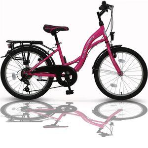 20 Zoll Mädchenfahrrad 6-Gang Shimano Fahrrad Kinderfahrrad Rosa TMA