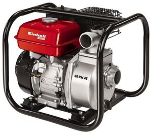 Einhell Benzin-Wasserpumpe GE-PW 45, Leistung 4,8 kW, 4-Takt-Motor luftgekühlt, Fördermenge max. 23000 l/h, Förderhöhe max. 26 m, Benzintankinhalt 3,6 l, 4171370