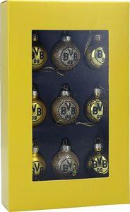 BVB Borussia Dortmund Mini-Christbaumkugeln 9er Set