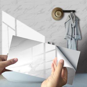 4/16 Stück bedruckte Küchenfliesenaufkleber Badezimmer selbstklebend wasserdicht,Farbe: Weiß,Größe:16 Stück