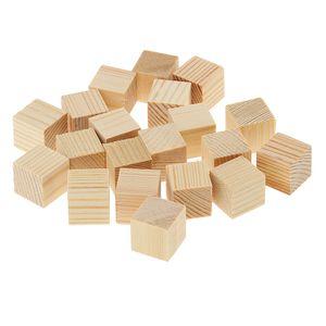 Holzwürfelblöcke Puzzle Unvollendete Holzstücke für Den Modellbau Holzhandwerk Größe 15mm 20 Stück