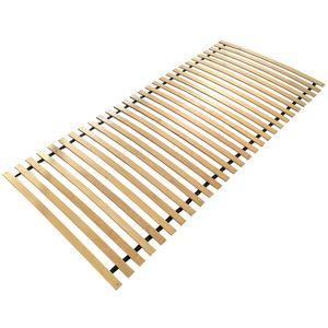 Lattenrost Smart 120 x 200cm bis 200kg mit 28 Latten - Rollrost aus Birkenholz für alle Matratzen Typen geeignet - Stabiles und hochwertiges Lattenrahmen aus em Holz