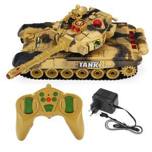 Ferngesteuerter Panzer RC Tank Panzer Kinder Kampfpanzer Spielzeug LED-44cm braun
