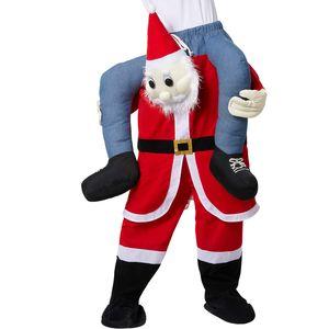 dressforfun Huckepack-Kostüm Weihnachtsmann - rot/weiß